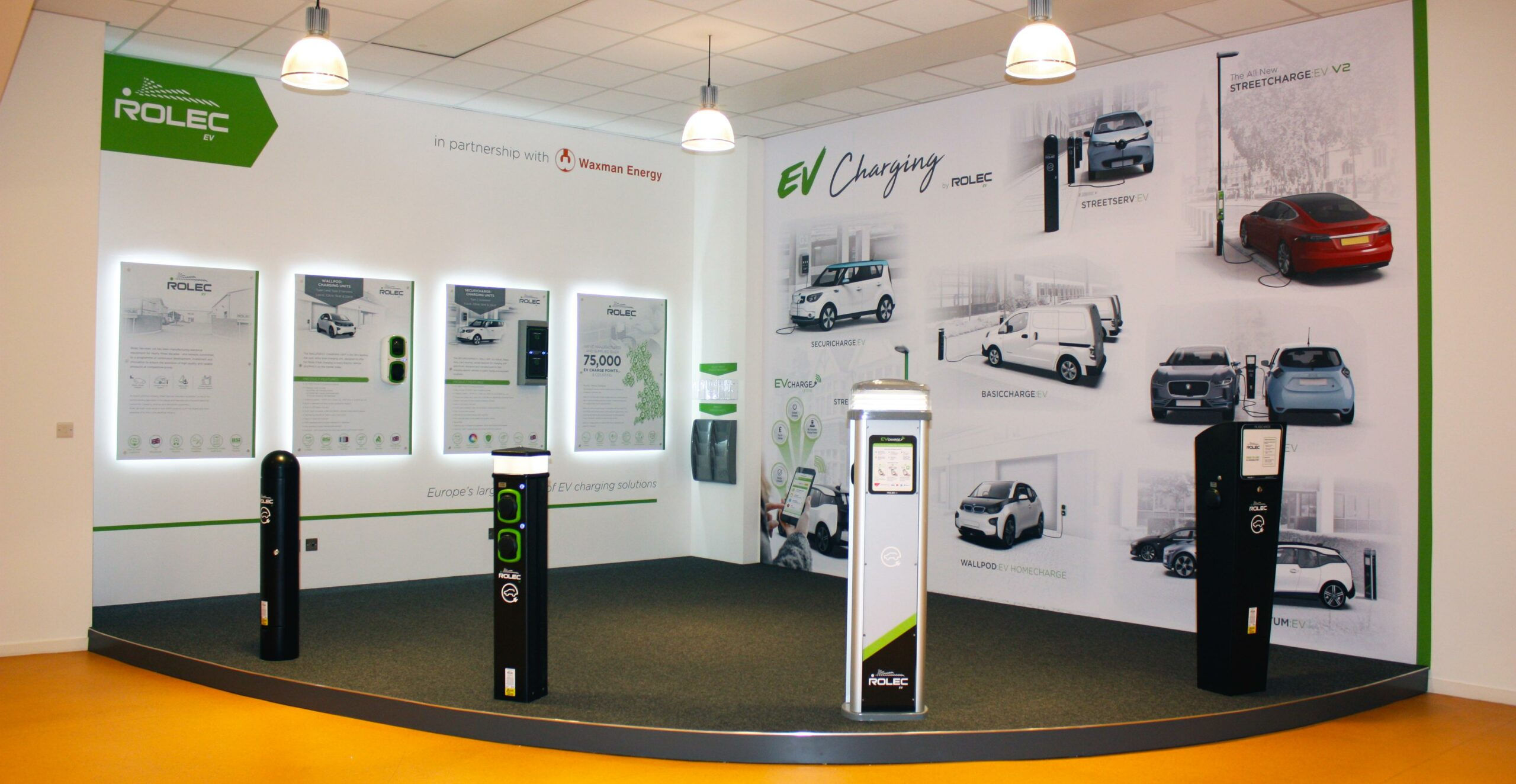 Rolec EV Showroom at Waxman Energy